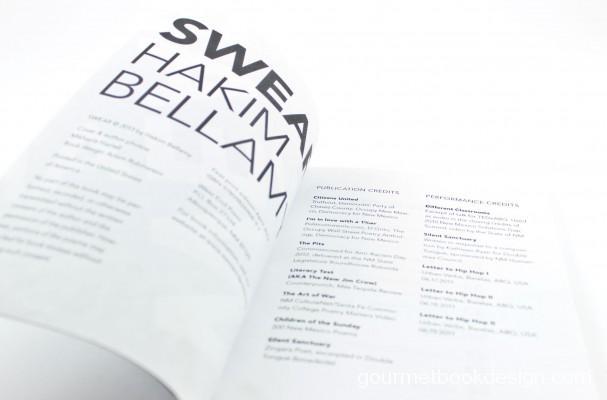SWEAR, poems by Hakim Bellamy: Credits page